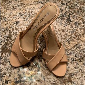 Rampage Shoes Size 7 Beige Open Toed Heels